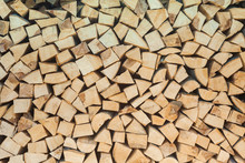 Stack Of Woods For Fire. Texture