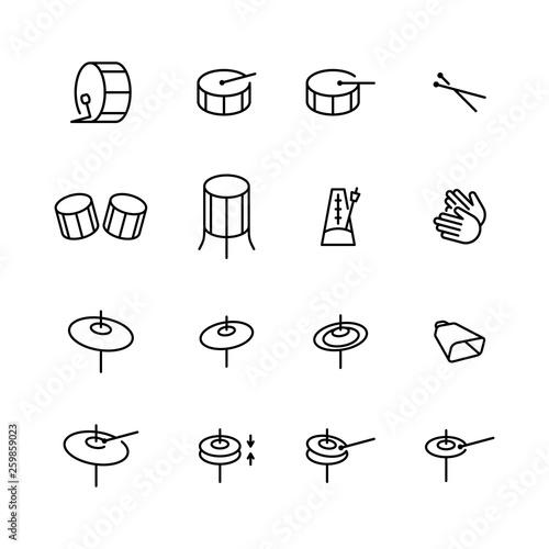 Obraz na płótnie Drums icons set