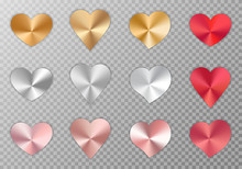 Collection Of Metal Hearts