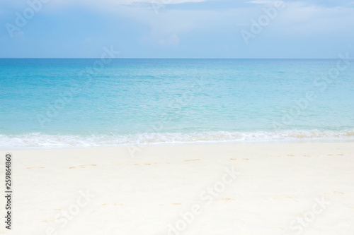 Photo  blue wave on beach of Phuket Thailand