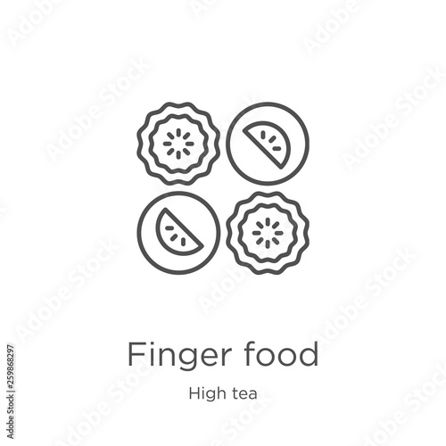 Stampa su Tela finger food icon vector from high tea collection