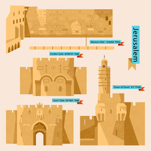 Sights Of Jerusalem. Israel, M...