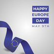Happy Europe Day Vector Template Design Illustration
