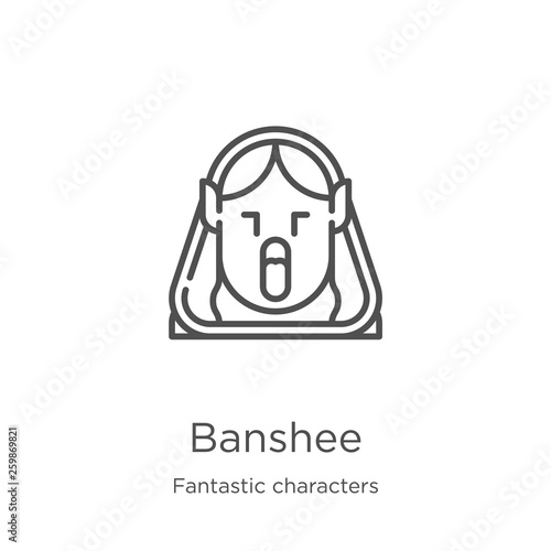 banshee icon vector from fantastic characters collection Wallpaper Mural