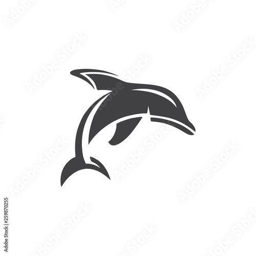 Foto op Plexiglas Dolfijnen Dolphins logo vector