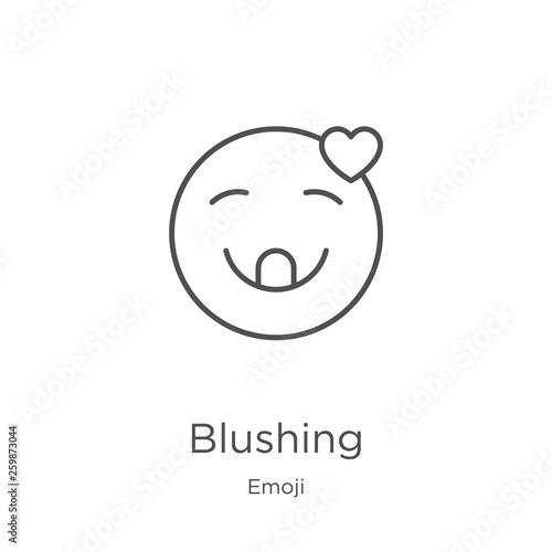 Obraz na plátně  blushing icon vector from emoji collection