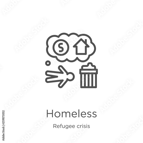 Valokuva homeless icon vector from refugee crisis collection