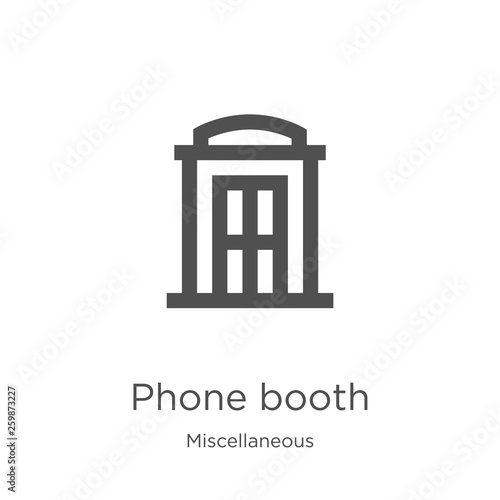 Fotografie, Obraz  phone booth icon vector from miscellaneous collection