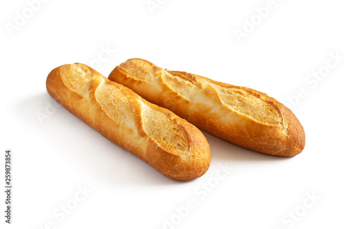 Fototapeta Two baguettes on white obraz