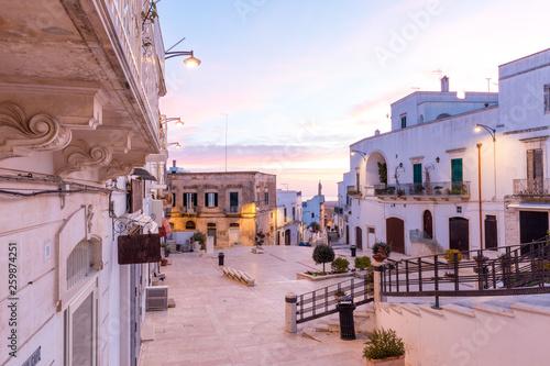 Photo Stadtzentrum von Ostuni, Apulien, Italien