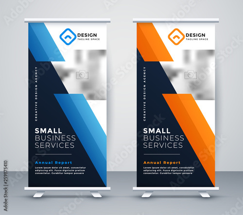 Cuadros en Lienzo abstract rollup banner design in geometric style