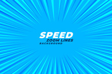 Abstract Comic Zoom Speed Lines Background
