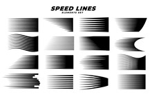 Manga Comic Motion Speed Lines Set