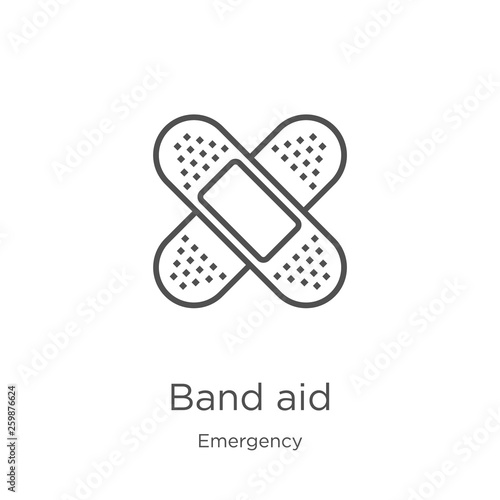 band aid icon vector from emergency collection Canvas Print