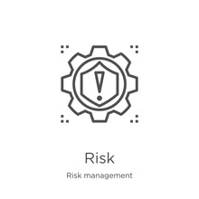 Risk Icon Vector From Risk Man...