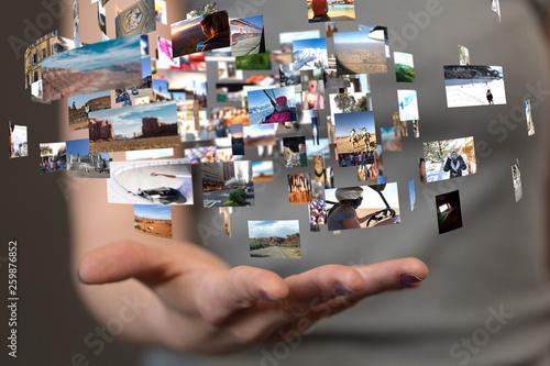 Fototapeta Internet broadband and multimedia streaming entertainment obraz na płótnie
