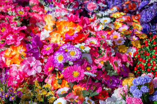 Fototapety, obrazy: decorative artificial flowers