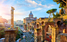 Roman Forum In Rome, Italy. An...