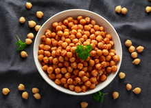 Roasted Spicy Chickpeas In Whi...