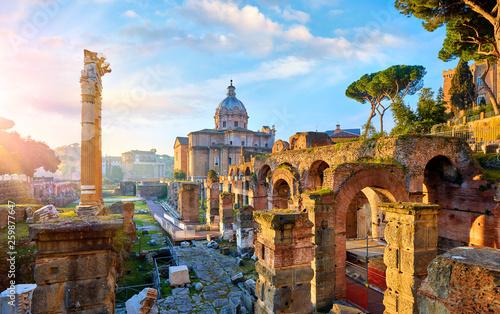 Roman Forum in Rome, Italy Fototapeta