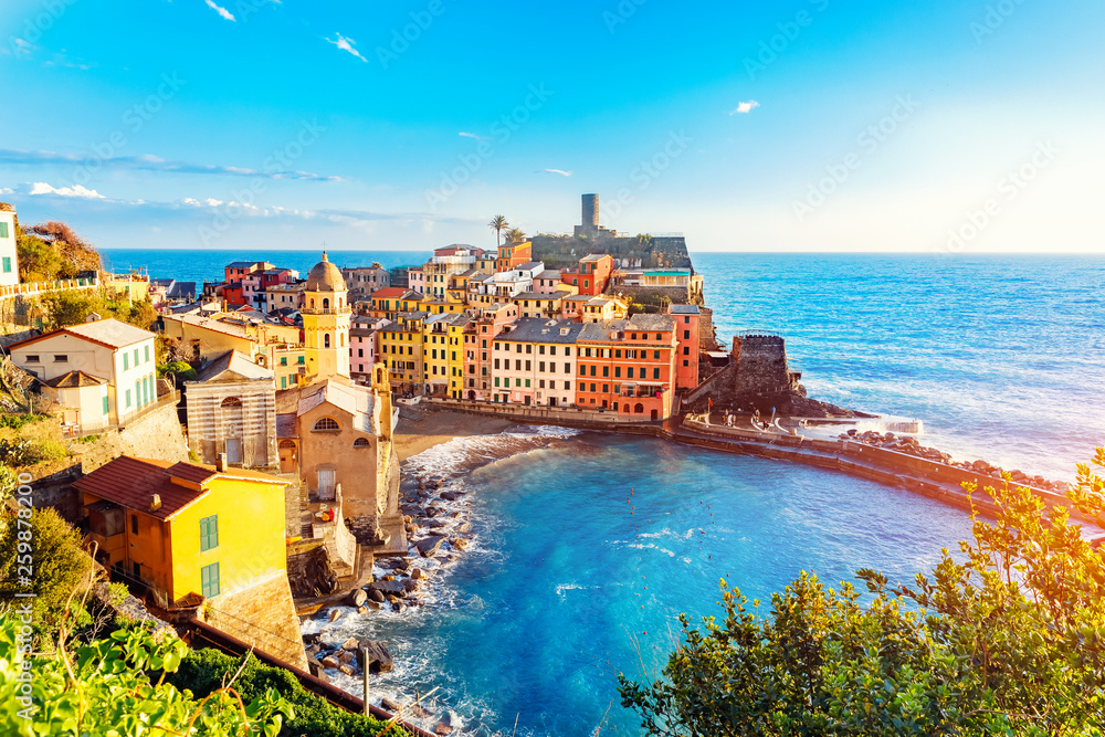 Fototapety, obrazy: Vernazza, national park Cinque Terre, liguria Italy Europe. Colorful villages
