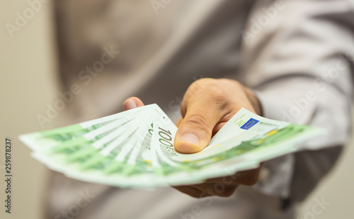 Fototapeta finance  money - Banknotes of the  european  union. obraz