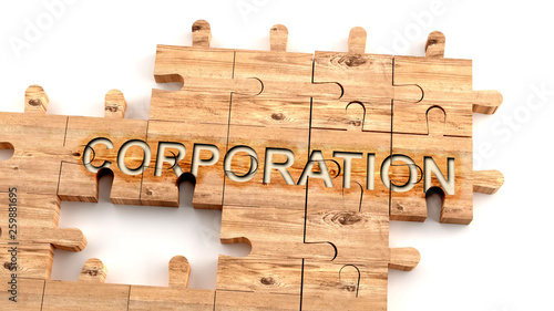 Photo  Complex and confusing corporation: learn complicated, hard and difficult concept