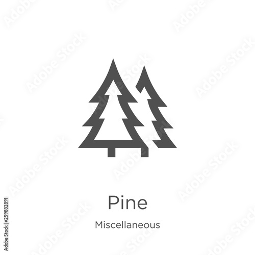 Fotomural pine icon vector from miscellaneous collection