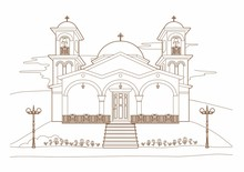 Drawing Of A Religious Building