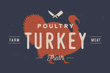 Turkey. Logo With Turkey Silho...