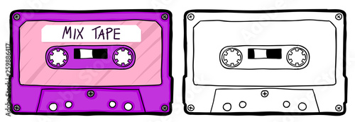 Photographie Retro cassette tape
