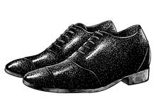 Elegant Shoes Illustration, Drawing, Engraving, Ink, Line Art, Vector