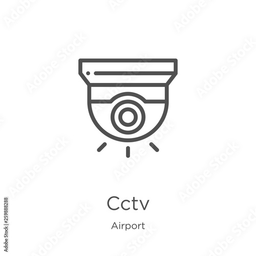 Fotografie, Obraz cctv icon vector from airport collection