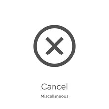 Cancel Icon Vector From Miscel...