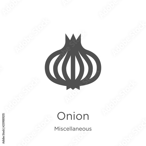 Foto onion icon vector from miscellaneous collection