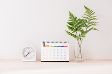 Mockup With A Calendar With A ...