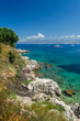 Corfu, panorama of the bay in the city of Kassiopi.