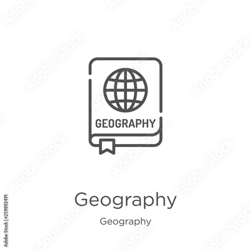Fotografia  geography icon vector from geography collection
