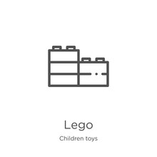 Lego Icon Vector From Children...