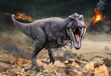Tyrannosaurus Rex Scene 3D Ill...