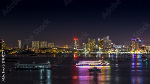 Staande foto Las Vegas Pattaya Bay