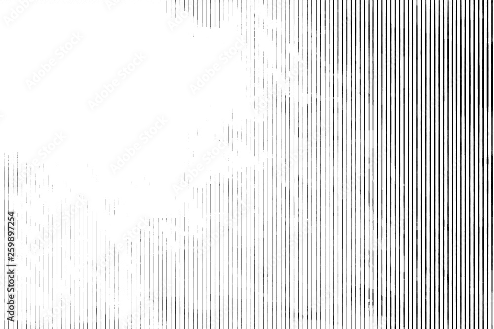 Fototapety, obrazy: Halftone monochrome grunge vertical lines texture.