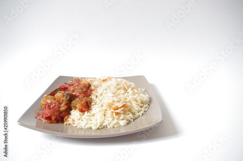 Photo  repas riz