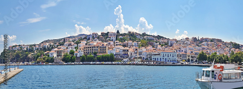 Türaufkleber Himmelblau panoramic landscape of Pylos Messinia Peloponnese Greece - famous greek summer places