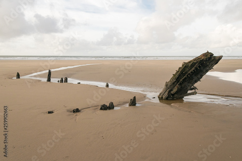 Relitto dell'Helvetia, Rhossili (Galles, UK) Tablou Canvas