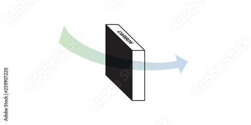 Carbon filter uses a bed of activated carbon to remove contaminants and impuriti Tapéta, Fotótapéta