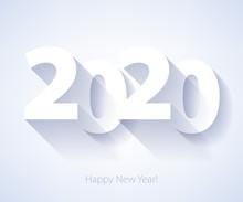 2020 Happy New Year Background. Seasonal Greeting Card Template.
