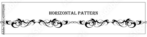 Fotografia Beautiful abstract graphic horizontal pattern