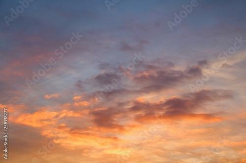 Fototapety, obrazy: Sunset Sky Clouds