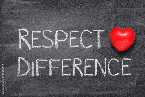 respect difference heart Canvas Print
